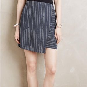 Anthropologie Elevenses Peoria Striped Skort
